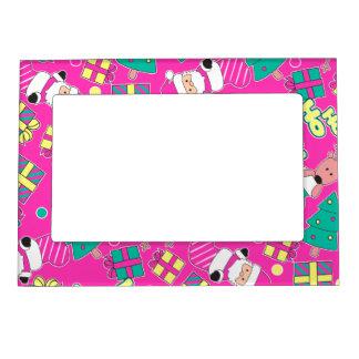 Pink - Ho Ho Santa Magnetic Picture Frame