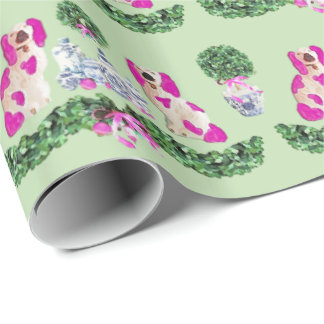 Pink Holiday Staffordshire by Redux121DesignStudio Wrapping Paper