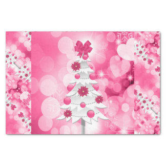 Pink Holiday Tree for a Girly Theme Tissue Paper