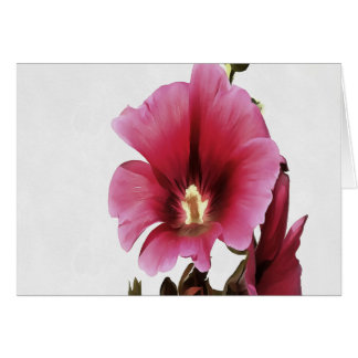 Pink Hollyhock Card