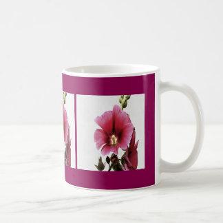 Pink Hollyhock Coffee Mug
