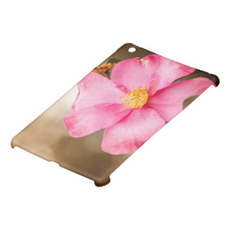 Pink Home Run Rose with Yellow iPad Mini Cases