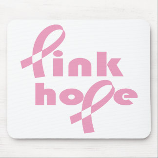Pink Hope Ribbon Mouse Pads