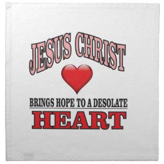pink hope to desolate heart napkin