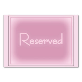 """Pink Horizontal 3.5"""" x 5"""" Reserved Card"""
