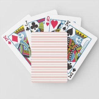 Pink Horizontal Pinstripe Bicycle Playing Cards