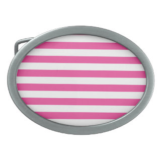 Pink Horizontal Stripes Belt Buckles