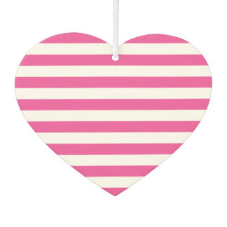 Pink Horizontal Stripes Car Air Freshener