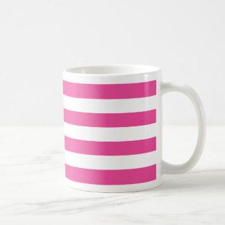 Pink Horizontal Stripes Coffee Mug