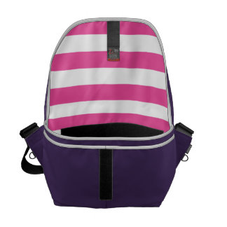 Pink Horizontal Stripes Courier Bags