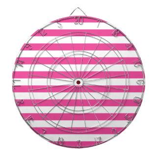 Pink Horizontal Stripes Dartboard