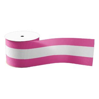 Pink Horizontal Stripes Grosgrain Ribbon