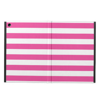 Pink Horizontal Stripes iPad Air Cover