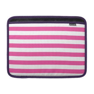 Pink Horizontal Stripes MacBook Sleeve