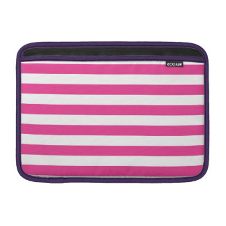 Pink Horizontal Stripes MacBook Sleeve
