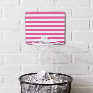 Pink Horizontal Stripes Mini Basketball Hoop