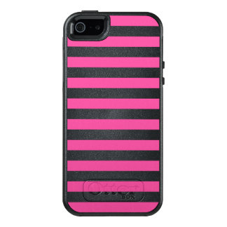 Pink Horizontal Stripes OtterBox iPhone 5/5s/SE Case