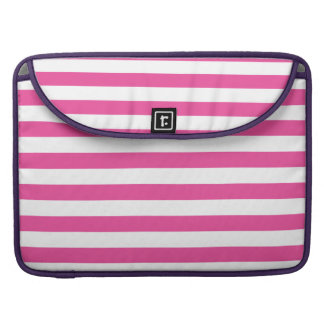 Pink Horizontal Stripes Sleeves For MacBook Pro