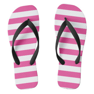 Pink Horizontal Stripes Thongs