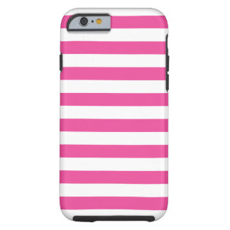 Pink Horizontal Stripes Tough iPhone 6 Case