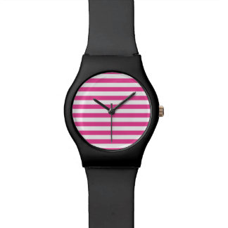 Pink Horizontal Stripes Watch