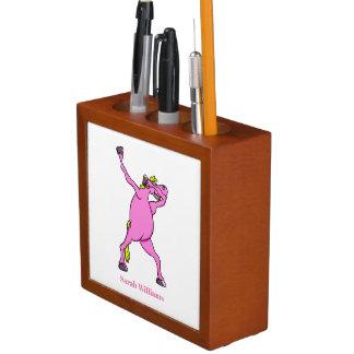 Pink Horse Dabbing Desk Organiser