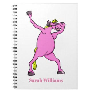 Pink Horse Dabbing Notebook
