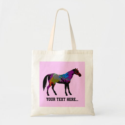 Pink Horse Personalized Tote Bag