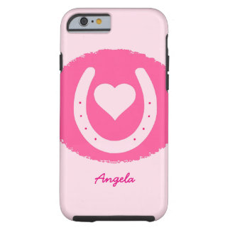 pink Horseshoe and Heart Tough iPhone 6 Case