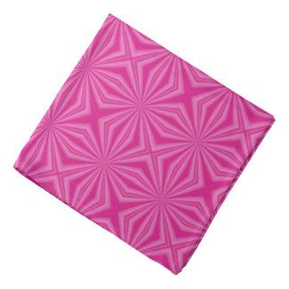Pink Hot Squiggly Squares Bandana