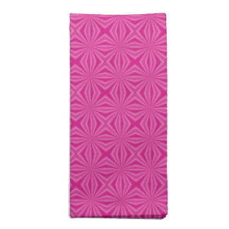Pink Hot Squiggly Squares Napkin