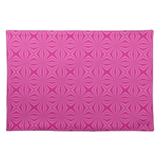 Pink Hot Squiggly Squares Placemat