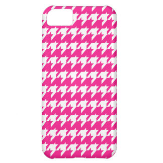 Pink  houndstooth iPhone 5C case