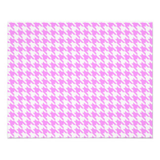 Pink Houndstooth Photographic Print