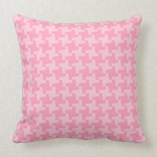 Pink Houndstooth Throw Pillow