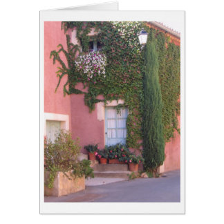 Pink House with Blue Door Card