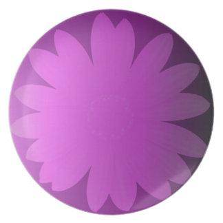 Pink Hues Daisy Flower Dinner Plates