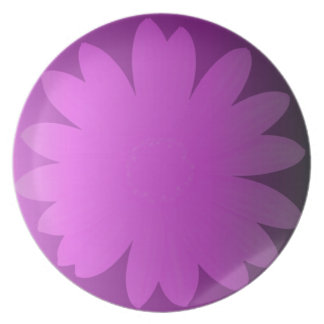 Pink Hues Daisy Flower Plate