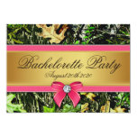 Pink Hunting Camo Bachelorette Party Invitations