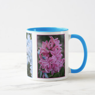 Pink Hyacinth and Lt Blue Flowers Mug