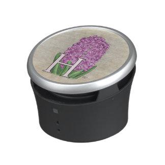 Pink Hyacinth Flora Monogram Speaker