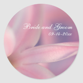 Pink Hyacinth Flowers Wedding Envelope Seal