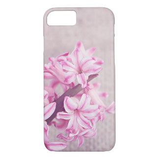 Pink Hyacinth on White Knit iPhone 7 Case