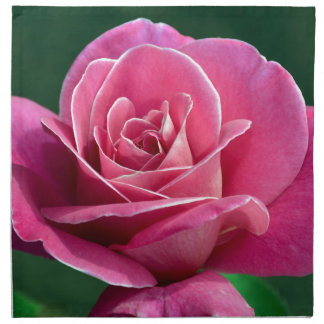 Pink Hybrid Tea Rose Printed Napkins