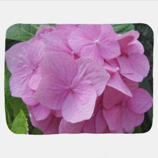 Pink Hydragea Flower Baby Blanket