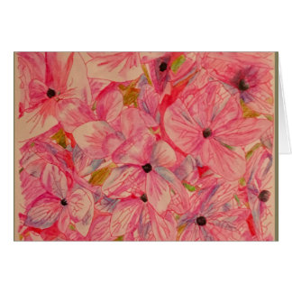 Pink Hydrange Notecards Card