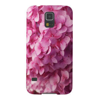Pink Hydrangea bloom closeup flower photograph. Cases For Galaxy S5