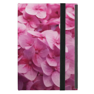 Pink Hydrangea bloom closeup flower photograph. iPad Mini Cover