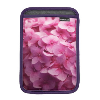 Pink Hydrangea bloom closeup flower photograph. iPad Mini Sleeves