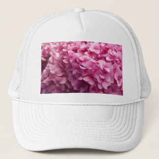 Pink Hydrangea bloom closeup flower photograph. Trucker Hat